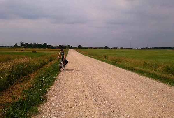 на велосипеде вокруг Куршского залива