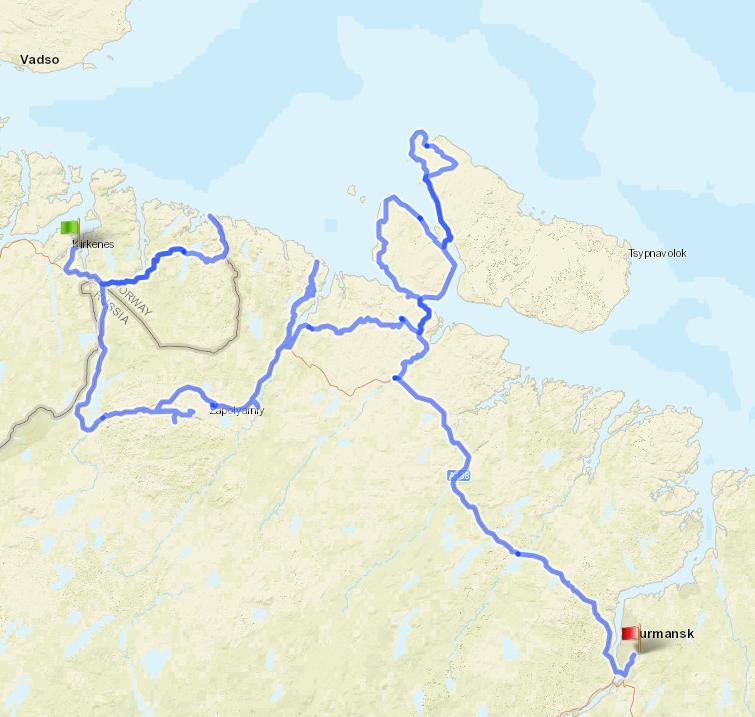 велопоход 1 категории сложности по Норвегии и Кольскому полуострову